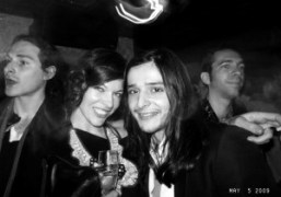 Milla Jovovich and Olivier Theykens at the Rodarte Met Ball after party…