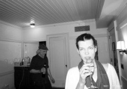 Chris Brenner and Milla Jovovich at the Bowery Hotel, New York. Photo…