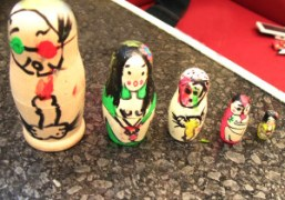 A collection of Russian dolls that Nobuyoshi Araki and his girlfriend Kaori…