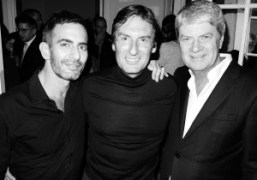Marc Jacobs, Pietro BeccariandYves Carcelle atPietro's dinner at his place to celebrate…