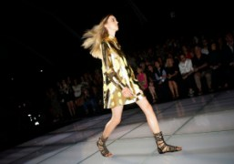 One look from the Fausto Puglisi S/S 2015 show at Corso Venezia,...