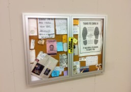 Nate Lowman's work at the Bulletin Board Exhibition. On view through August…
