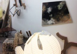 A few works from Lucy Dodd at her show Cake 4 Catfish…