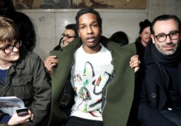 A$AP Rocky at the Raf Simons / Sterling Ruby Mens F/W show…