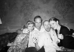 Sophie Aschauer, Paul Sevigny, Magnus Unnar and a friend at Avenue, New…