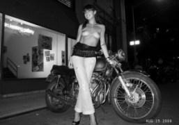Mademoiselle Nilou outside of Jane Hotel, New York. Photo Olivier Zahm