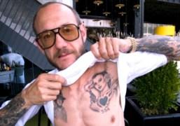 Terry Richardson's new tattoo, New York. Photo Olivier Zahm