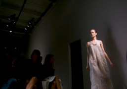 One of the last long dress of the Calvin Klein show, New…