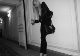 Lindsay Lohan leaving her hotel, Paris. Photo Olivier Zahm