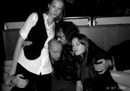 Magnus Unnar and Olivier Zahm with some friends for Magnus birthday at…