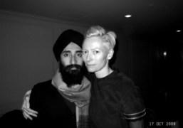 Waris Ahluwalia and Tilda Swinton at the screening of their film Io…