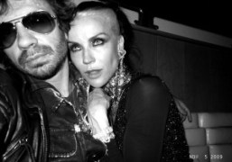 Olivier Zahm and Daphne Guinness at the Boom Boom Room, Standard Hotel,…