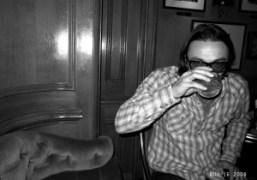 Mario Sorrenti at the Hemingway Bar at the Ritz, Paris. Photo Olivier…