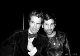 Vincent Darré and André Saraiva at André & Lionel's apartment with Vitaminwater…