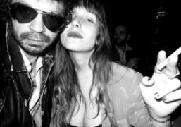 Olivier Zahm and Josephine de la Baume at the Yves Saint Laurent…