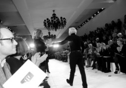 Mr Ralph Lauren at the end of his Fall/Winter 2010/11 show, New…