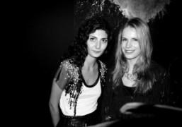 The fashion editor Giovanna Battaglia and jewelery designer Eugénie Niarchos at the…