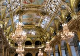 The ceiling of the Hotel de Ville at the Dries Van Noten…