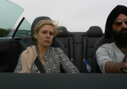 Tara Subkoff and Waris Ahluwalia driving up to Idyllwild, California. Photo Waris…