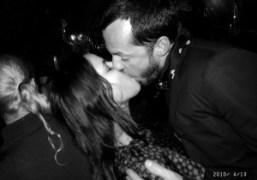 Sarah and Alexandre de Betak kissing at Le Montana, Paris. Photo Olivier…