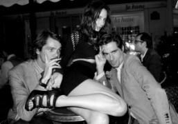 Elie Top, Laetitia Crahay and Vincent Darré at Café de Flore, Paris….