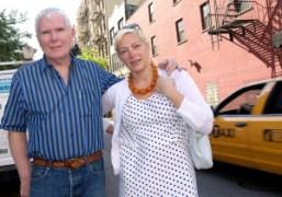 The beautiful couple Glenn O'Brien and Gina Nanni on Prince Street, New…