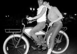 Andre Saraiva and Natacha Ramsay on their way to the Montana, Paris….