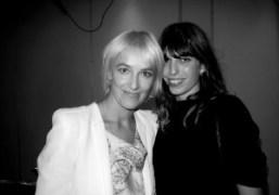 Vanessa Bruno and Lou Doillon backstage at the the Vanessa Bruno S/S…