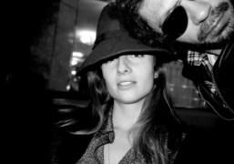 The beautiful French photographer Sonia Sieff at the Café de Flore, Paris….