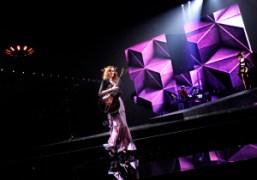 Karen Elson's performance at the Etam show at the Grand Palais, Paris….
