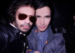 Olivier Zahm and Lazaro Hernandez backstage at Proenza Schouler F/W 2011, New…