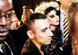 Creative director of Mugler, Nicola Formichetti with Lady Gaga after the Mugler…