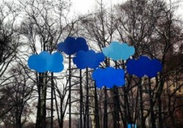 Olaf Breuning's Clouds in collaboration with Public Art Fund on view through…