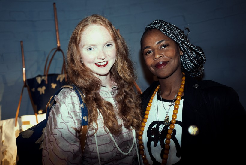 Launch of the Lily Cole collaboration with Bottletop and Wangechi Mutu at Impossible Store, London