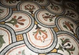 The mosaic tiled floor at the Palais Garnier, Paris.