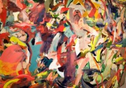 """Cecily Brown's artwork at the """"Unrealism"""" exhibition presented by Jeffrey Deitch and..."""