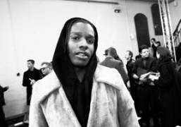 ASAP Rocky at the J.W. Anderson Men's F/W 2016 show at Yeomanry...