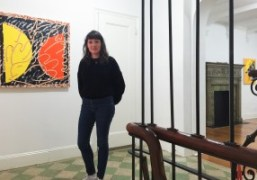 """Trudy Benson at her """"Spooky Action at a Distance"""" exhibition opening, on..."""