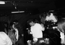 Kazumi Asamura Hayashi and Taka dancing during Brian Degraw and Spencer Sweeney's...