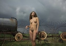 Sofie in the Dutch fields