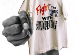 """Purple WANT: Vintage """"Fight The Powers"""" Shirt"""