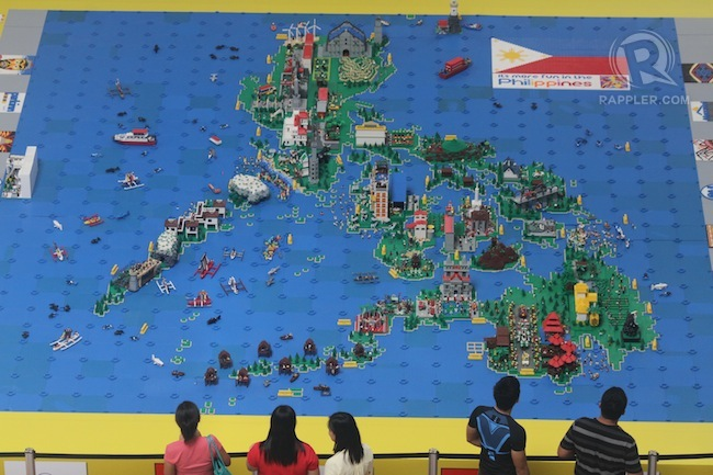 The 5 Best Maps Made from Lego   Petros Jordan Lego Map of the Philippines  via  http   www rappler com life and style 31150 creative maps in davao city