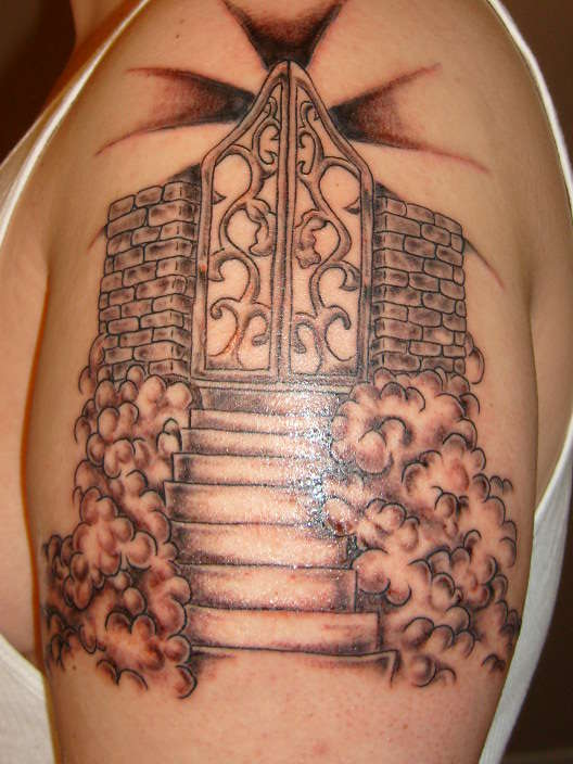 Depiction Heaven Stairs Tattoo