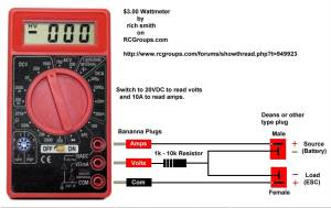 EastBay RC: Three Dollar Wattmeter