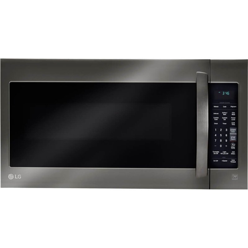lg over the range microwave 2 0 cu ft black stainless steel rc willey furniture store