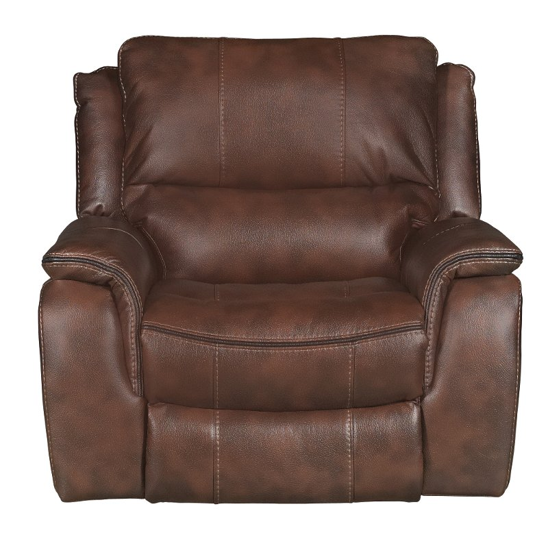 Brown Power Recliner Wayne RC Willey Furniture Store