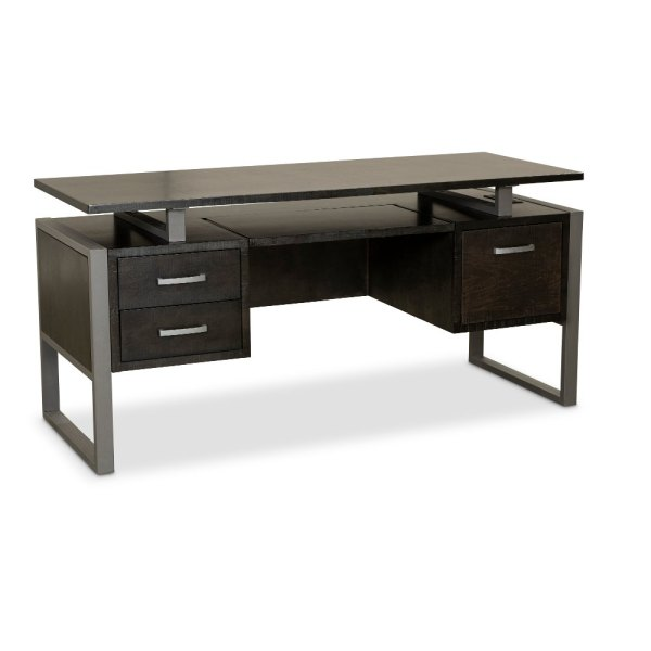64 Inch Charcoal Modern Office Desk   Mar Vista   RC Willey     64 Inch Charcoal Modern Office Desk   Mar Vista   RC Willey Furniture Store