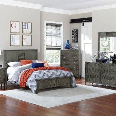 Casual Classic Gray 6 Piece Full Bedroom Set Garcia