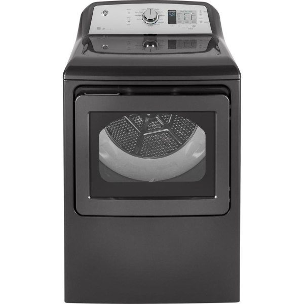 GE 7 4 cu  ft  Capacity Electric Dryer with HE Sensor Dry  Diamond     Capacity Electric Dryer with HE Sensor Dry  Diamond Gray   RC Willey  Furniture Store
