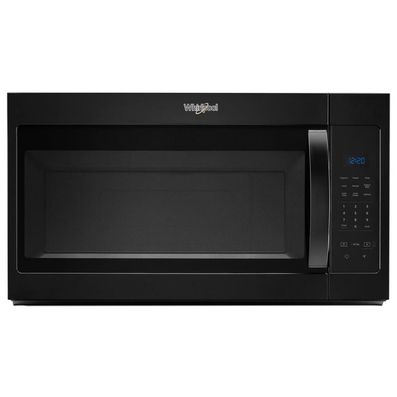 whirlpool 1 7 cu ft microwave hood combination with electronic touch controls black rc willey furniture store